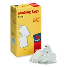 "Marking Tags, 2-5/32""x1-7/16"", 1000/BX, White"