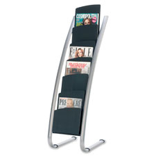 "Literature Display Stand, 22.2""x18.4""x36"", BKGY  (1 EA)"