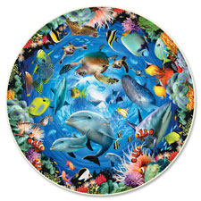 A Broader View Ocean View 500-piece Round Puzzle