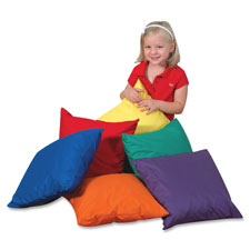 Children's Fact. Foam-filled Square Floor Pillow