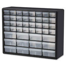 "Stackable Cabinets,44 Drawers,20""x6-3/8""x15-13/16"",Gray"