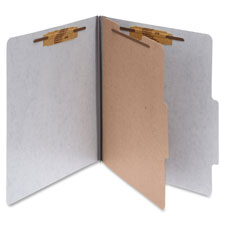 "Classification Folders w/Fstnr,Ltr,2"" Exp,1 Div.,10/BX,RD"