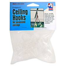 Adams Clear Plastic Ceiling Hooks