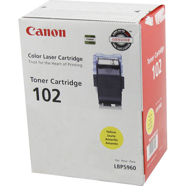 Genuine OEM Canon 9642A006AA (CRG-102) Yellow Toner Printer Cartridge (6000 page yield)