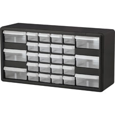 "Stackable Cabinet,26 Drawers,20""x6-3/8""x10-11/32"",Black/Gray"
