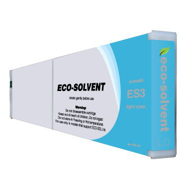 Premium Quality Light Cyan Eco Solvent Ink compatible with the Mimaki ES3 LC-440
