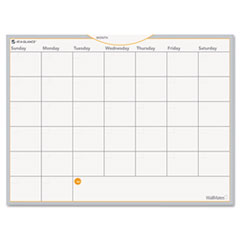 "Dry Erase Planning Surface, Monthly, 18""x24"", White"