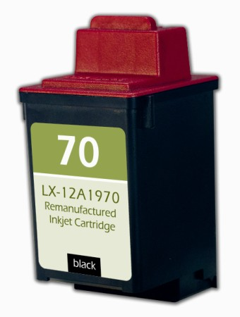 Premium Quality Black Inkjet Cartridge compatible with Lexmark 12A1970 (Lexmark #70)