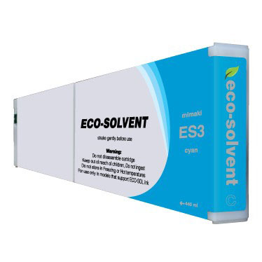 Premium Quality Cyan Eco Solvent Ink compatible with the Mimaki ES3 CY-440