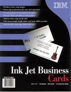 IBM Impreso Standard Business Cards, Letter, 8.5 in x 11 in, 10up, 25 Sheets, 250 Cards