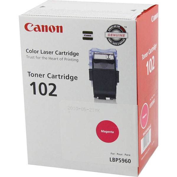 Genuine OEM Canon 9643A006AA (CRG-102) Magenta Toner Printer Cartridge (6000 page yield)