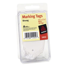 Marking Tags, Medium Weight Stock, Cotton String, White